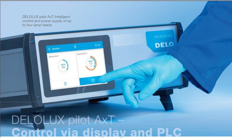 Hướng dẫn lựa chọn bộ điều khiển DELOLUX pilot Axi hoặc AxT cho đèn chiếu xạ UV DELOLUX 20 / 202